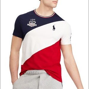 Polo Ralph Lauren USA custom slim fit tee